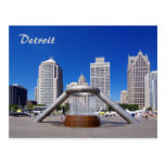 Detroit - Hart Plaza Postcard