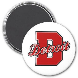 Detroit Letter 7.5 Cm Round Magnet