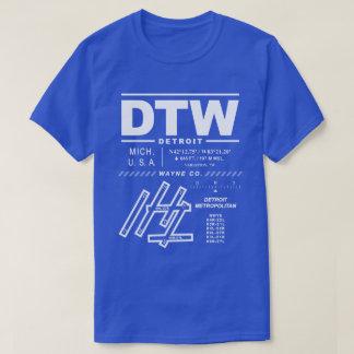 Detroit Metropolitan Wayne Co Airport DTW T-Shirt