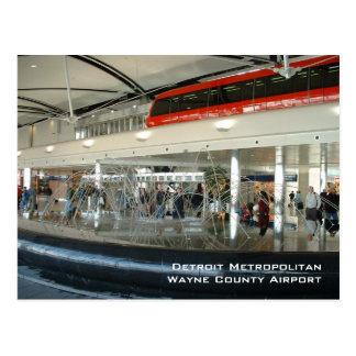 Detroit Metropolitan Wayne Country Airport Postcard