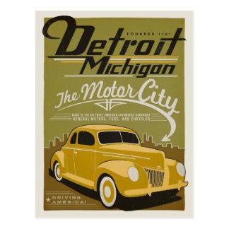 Detroit, MI Postcard