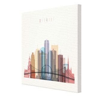 Detroit, Michigan   City Skyline Canvas Print
