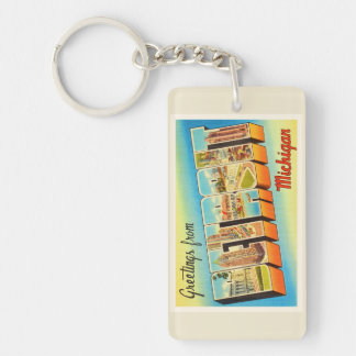 Detroit Michigan MI Old Vintage Travel Souvenir Key Ring