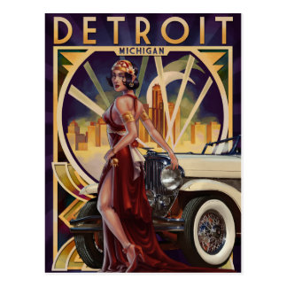 Detroit, Michigan   Motor City Postcard