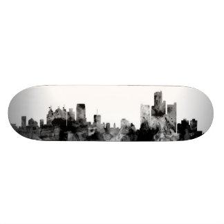 Detroit Michigan Skyline Custom Skate Board