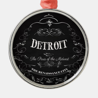 Detroit Michigan - The Paris of the Midwest Silver-Colored Round Decoration