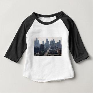 Detroit Michingan Skyline Baby T-Shirt