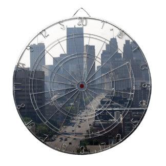Detroit Michingan Skyline Dartboard