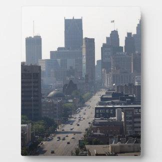 Detroit Michingan Skyline Plaque
