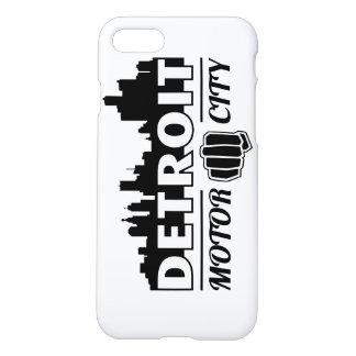 Detroit Motor City Skyline iPhone Case