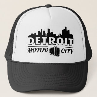 Detroit Motor City Skyline Trucker Hat