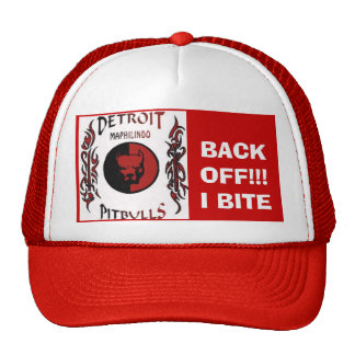detroit pitbull trucker hats