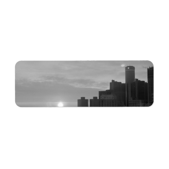 Detroit Return Address Label