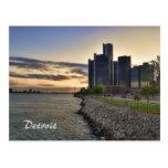 Detroit Riverfront Postcard