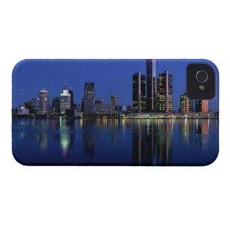 Detroit Skyline at Night iPhone 4 Cases