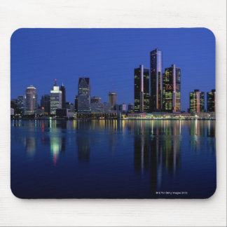 Detroit Skyline at Night Mouse Pad