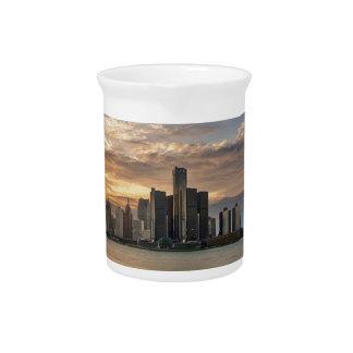 Detroit Skyline Drink Pitchers