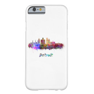 Detroit skyline in watercolor barely there iPhone 6 case