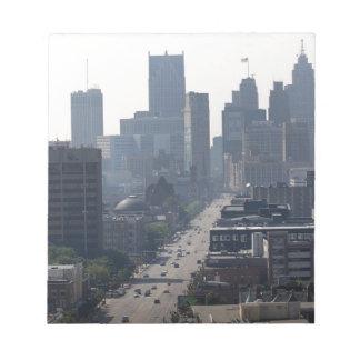 Detroit Skyline Notepad