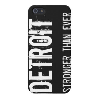 Detroit - Stronger than Ever iPhone 5 Cases