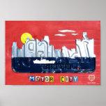 Detroit: The Motor City License Plate Art Print