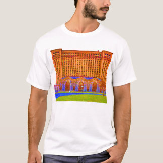 detroit train station odd color T-Shirt