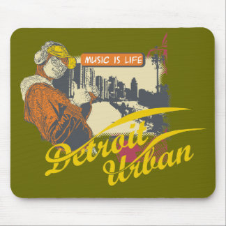 Detroit Urban T-shirts and Gifts Mouse Pads