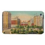 Detroit Vintage Postcard Illustration iPod Case-Mate Cases