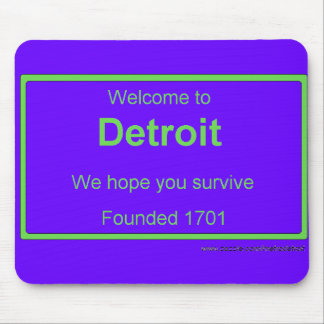 Detroit welcome mouse pad