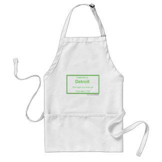 Detroit welcome standard apron
