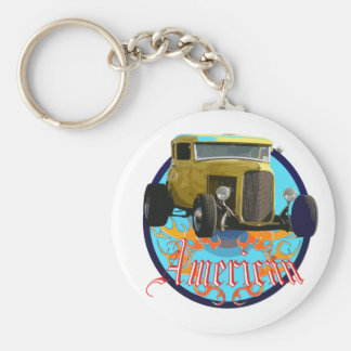 Deuce coupe basic round button key ring