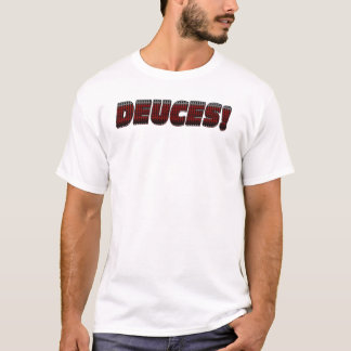 DEUCES-Burgundy-Black-Gray T-Shirt
