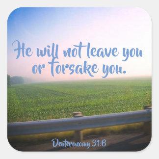 Deuteronomy 31:6 Christian Scripture Stickers