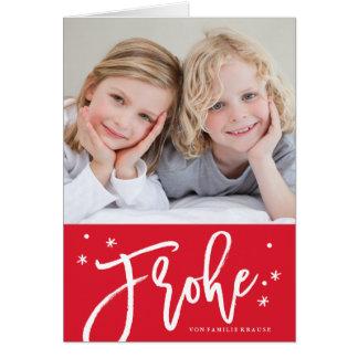 Deutsch Weihnachtskarte card