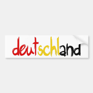 Deutschand Original designs! Bumper Sticker