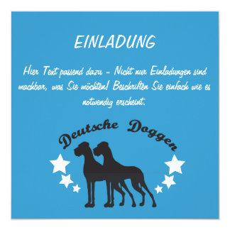 """Deutsche Doggen 5.25"""" Square Invitation Card"""