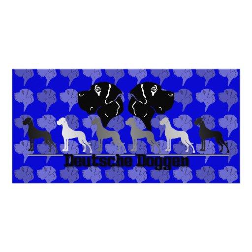 Deutsche Doggen Customized Photo Card