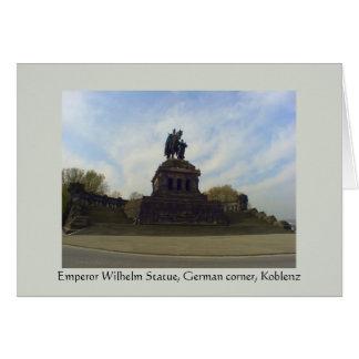 Deutsches Eck, Kaiser Wilhelm, Koblenz, Germany Greeting Card
