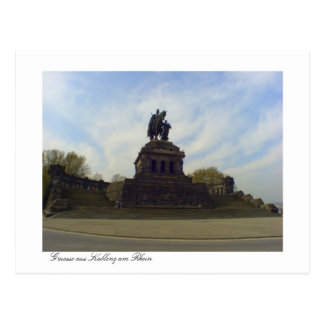 Deutsches Eck, Kaiser Wilhelm, Koblenz, Germany Postcard
