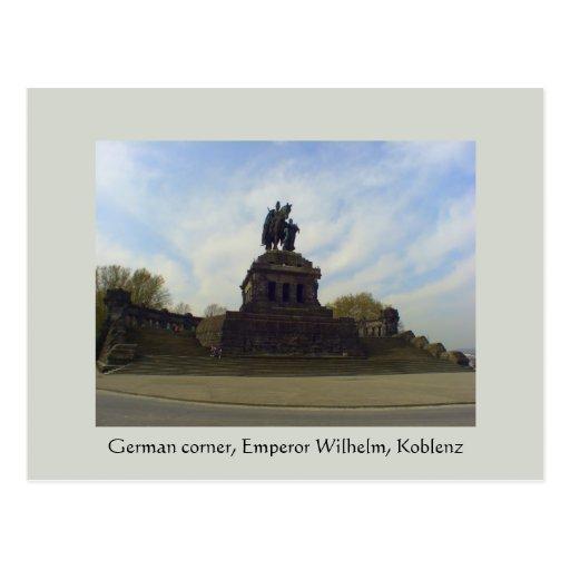 Deutsches Eck, Kaiser Wilhelm, Koblenz, Germany Postcards