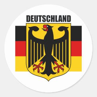 Deutschland 2 round sticker