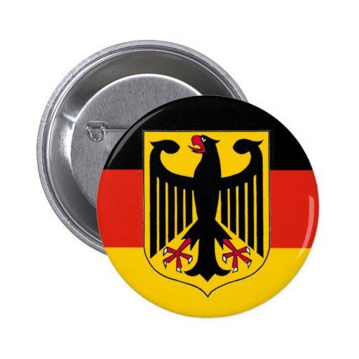 Deutschland Eagle Flag Pinback Button