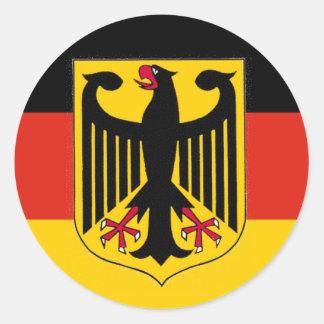 Deutschland Eagle Flag Round Sticker