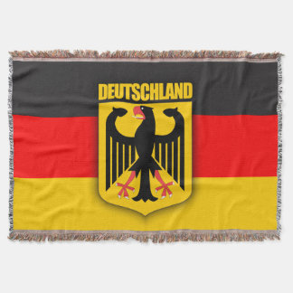 Deutschland Flag & Coat of Arms Throw Blanket