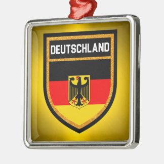 Deutschland  Flag Metal Ornament