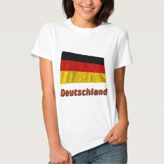 Deutschland Fliegende Flagge mit Namen Tshirt