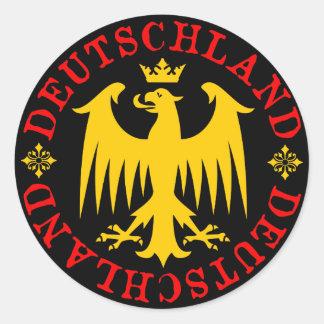 Deutschland German Eagle Emblem Classic Round Sticker
