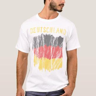 Deutschland German Flag Ladies Crew T-Shirt
