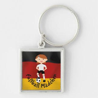 Deutschland Germany Fußball Mädchen 3 v2 Key Chain