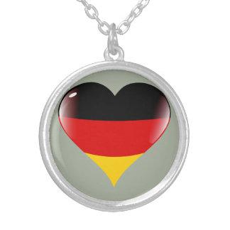Deutschland heart round pendant necklace